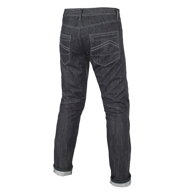 DAINESE CHARGER REGULAR JEANS BLACK ARAMID - BACK