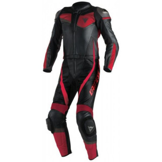 TUTA DAINESE VELOSTER 2 PCS SUIT - BLACK-RED