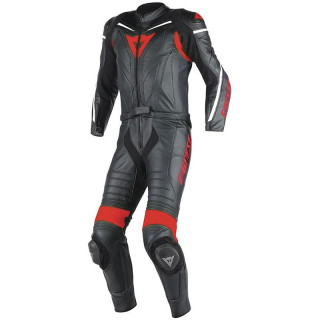 DAINESE LAGUNA SECA D1 2 PCS SUIT - BLACK-RED