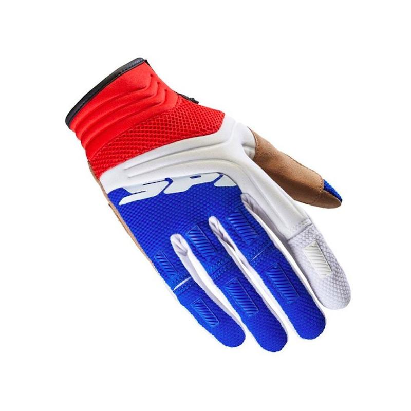 SPIDI MEGA-X GLOVES - WHITE BLUE RED