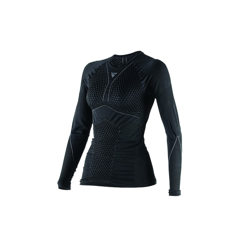 DAINESE D-CORE THERMO TEE LS LADY- BLACK ANTHRACITE