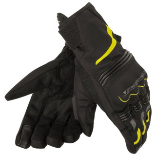 DAINESE TEMPEST UNISEX D-DRY SHORT GLOVES - YELLOW
