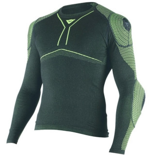 DAINESE D-CORE ARMOR TEE LS- BLACK FLUO YELLOW