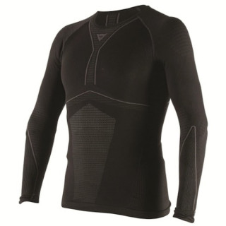 MAGLIA DAINESE D-CORE DRY TEE LS- BLACK ANTHRACITE