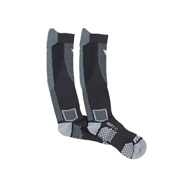 DAINESE D-CORE HIGH SOCK - BLACK RED