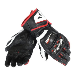 DAINESE DRUID D1 LONG GLOVES - BLACK WHITE RED