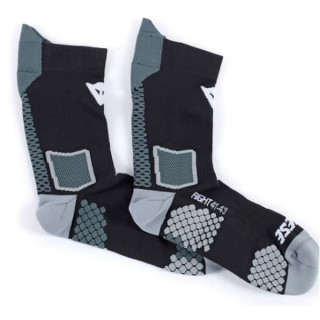 CALZE DAINESE D-CORE MID SOCK- BLACK ANTHRACITE