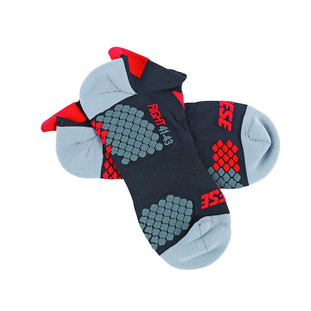 CALZE DAINESE D-CORE FOOTIE SOCK - BLACK RED