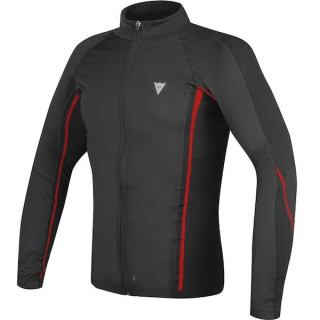 MAGLIA DAINESE D-CORE NO-WIND THERMO TEE LS - BLACK RED