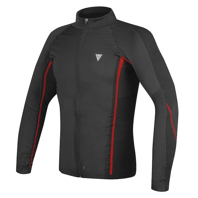 MAGLIA DAINESE D-CORE NO-WIND THERMO TEE LS- BLACK RED
