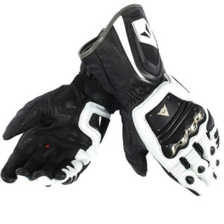 DAINESE 4 STROKE LONG GLOVES - BLACK WHITE