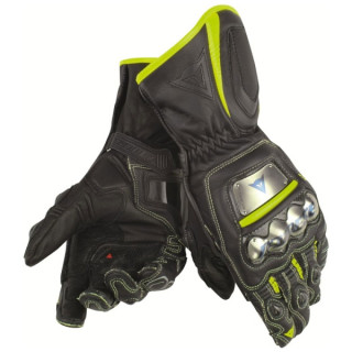 DAINESE FULL METAL D1 GLOVES - BLACK YELLOW FLUO