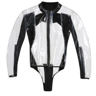 DAINESE RAIN BODY RACING D1 - TRANSPARENT BLACK