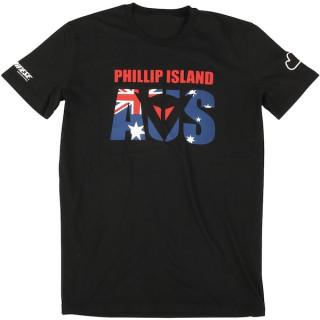 MAGLIA DAINESE PHILLIP ISLAND D1 T-SHIRT- BLACK
