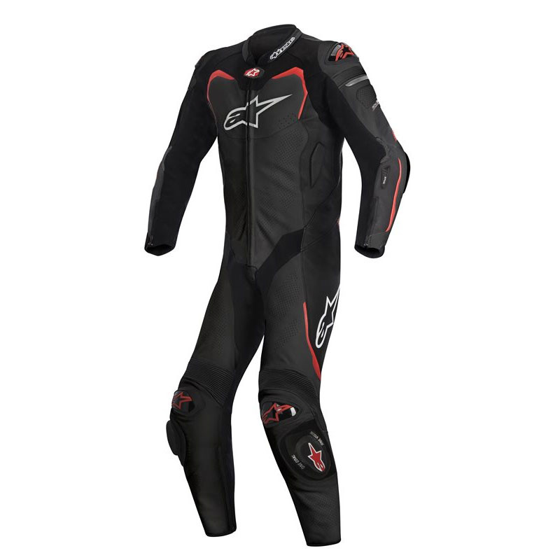ALPINESTARS GP PRO LEATHER SUIT - BLACK RED