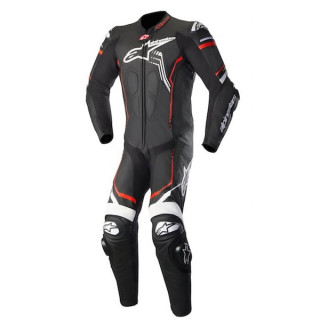 ALPINESTARS GP PLUS v2 LEATHER SUIT - BLACK WHITE RED FLUO