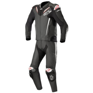 TUTA DIVISA ALPINESTARS v3 2PC LEATHER SUIT - BLACK WHITE