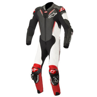 ALPINESTARS ATEM v3 LEATHER SUIT - BLACK WHITE RED