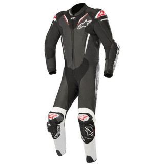 TUTA INTERA ALPINESTARS ATEM v3 LEATHER SUIT - BLACK WHITE