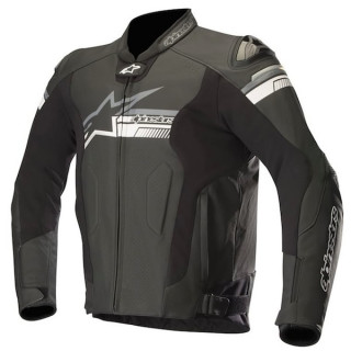 ALPINESTARS FUJI AIRFLOW LEATHER JACKET - BLACK WHITE