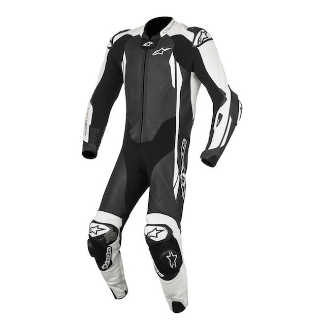 TUTA ALPINESTARS GP TECH v2 TECH-AIR LEATHER SUIT - BLACK WHITE