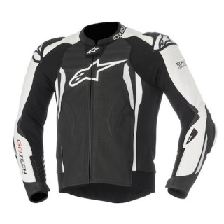 ALPINESTARS GP TECH v2 TECH-AIR LEATHER JACKET - BLACK WHITE