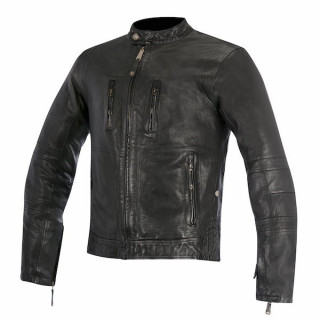 ALPINESTARS BRASS LEATHER JACKET - NERO