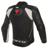 Dainese Misano D-Air Jacket Black-White - BACK