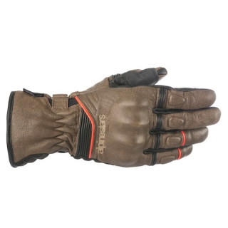 ALPINESTARS CAFE DIVINE DRYSTAR GLOVE - BROWN BLACK