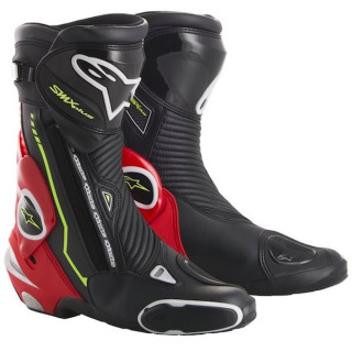 STIVALI ALPINESTARS SMX PLUS BOOT 2017 - BLACK RED FLUO WHITE YELLOW FLUO