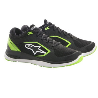 ALPINESTARS ALLOY SHOE - BLACK GREEN