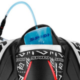 SPIDI TRACK WIND REPLICA EVO LEATHER SUIT BLACK WHITE - HYDROBACK