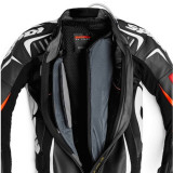 SPIDI TRACK WIND REPLICA EVO LEATHER SUIT BLACK WHITE - MESH LINER