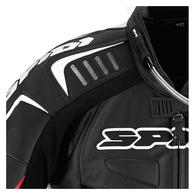 SPIDI TRACK WIND REPLICA EVO LEATHER SUIT BLACK WHITE - DETAIL