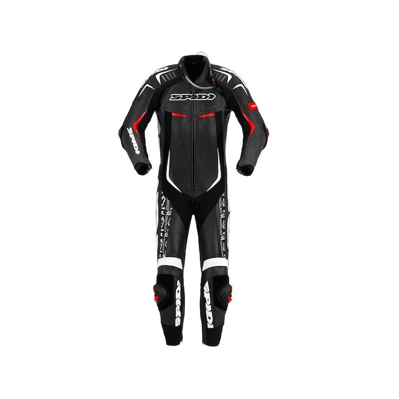 SPIDI TRACK WIND REPLICA EVO LEATHER SUIT - BLACK WHITE