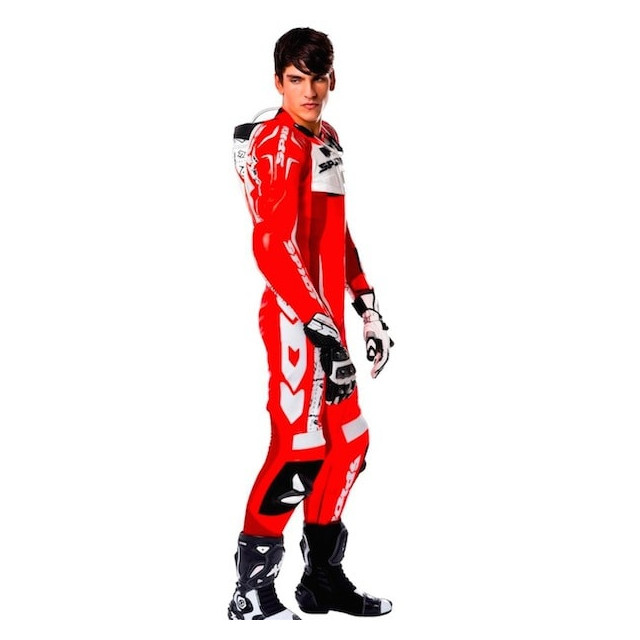 TUTA SPIDI TRACK WIND REPLICA RED WHITE - MODELLO