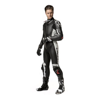 SPIDI REPLICA PILOTI WIND PRO LEATHER SUIT BLACK WHITE - MODEL