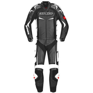 SPIDI TRACK TOURING 2 PIECES SUIT - BLACK WHITE