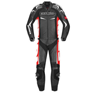 SPIDI TRACK TOURING 2 PIECES SUIT - BLACK RED
