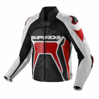 SPIDI WARRIOR 2 LEATHER JACKET - BLACK RED