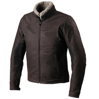 SPIDI FIREBIRD LEATHER JACKET - BROWN