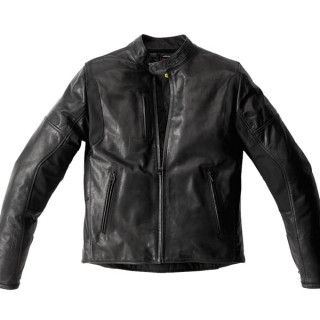SPIDI THUNDERBIRD LEATHER JACKET - BLACK