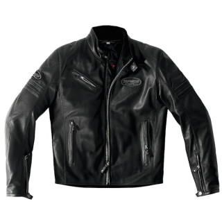 SPIDI ACE LEATHER JACKET - BLACK