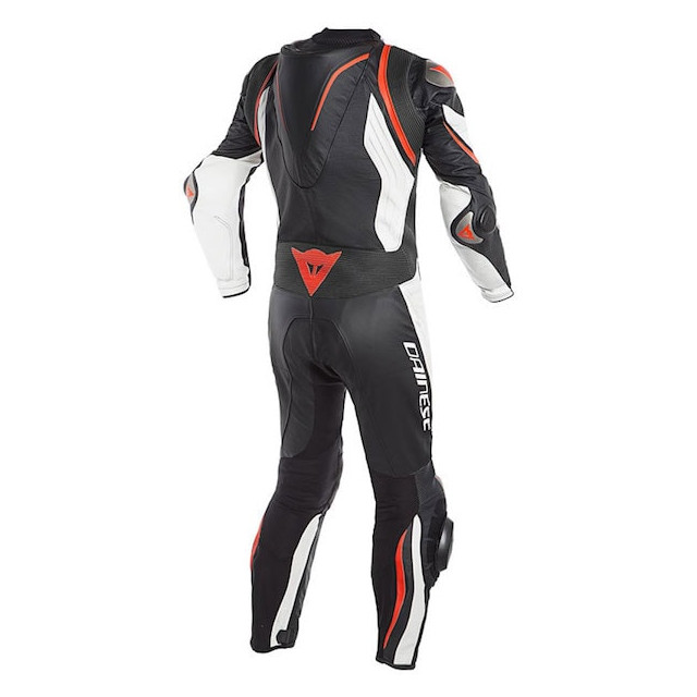 DAINESE KYALAMI 1 PC PERFORATED SUIT BLACK WHITE FLUO RED - BACK