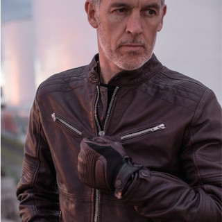 SPIDI GARAGE LEATHER JACKET BROWN - GLOVES