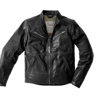 SPIDI GARAGE LEATHER JACKET - BLACK