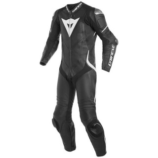 DAINESE LAGUNA SECA 4 1PC LEATHER SUIT - Black-White