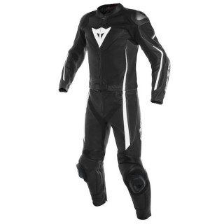 DAINESE ASSEN 2 PCS SUIT - Black-White