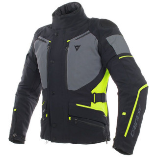 DAINESE CARVE MASTER 2 GORE-TEX JACKET - Black-Ebony-Fluo Yellow