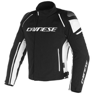 DAINESE RACING 3 D-DRY JACKET - Black-White